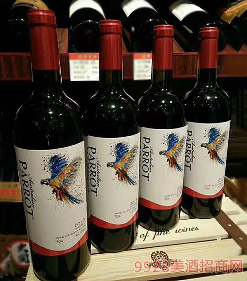 澳洲鹦鹉·西拉干红葡萄酒750ml