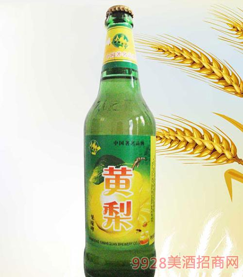 500ml绿瓶黄梨味果啤