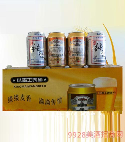 小麦王纯生啤酒