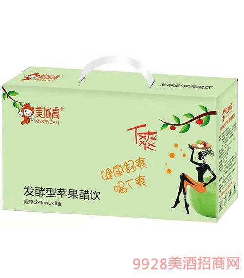 美域高�l酵型�O果醋�246mlx8