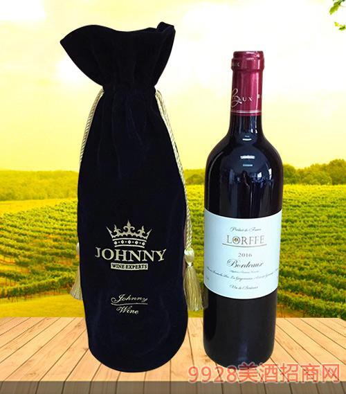 洛芙法国原酒原瓶进口干红葡萄酒2016