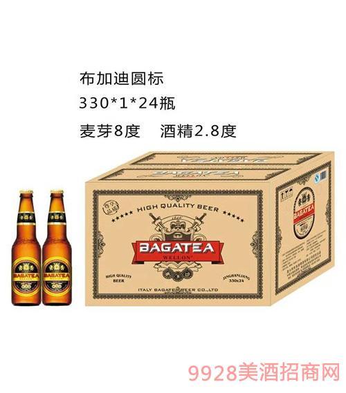 BJ001-330ml布加迪圆标啤酒