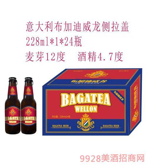 布加迪威龙高端拉环啤酒红标228ml×24瓶