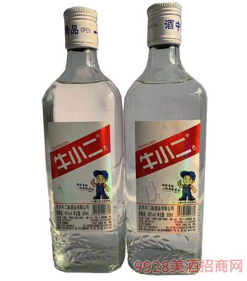牛小二酒中精品酒(红标)42度500ml
