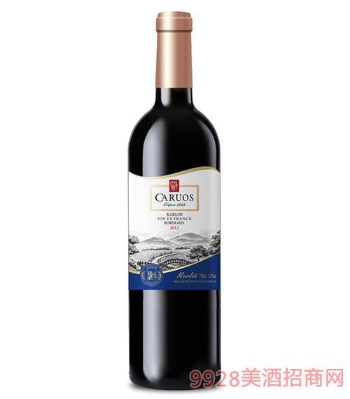 卡斯特皇室美樂干紅葡萄酒