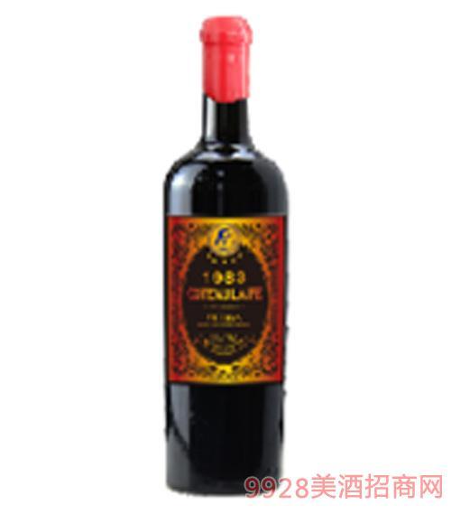 歌图人生 至尊 御佳生活1983干红葡萄酒14度750ml