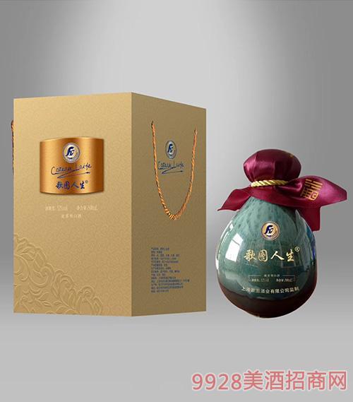 歌图人生 白酒 52度500ml浓香型青色