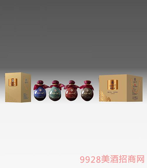 歌图人生 白酒 四色装浓香型52度500ml