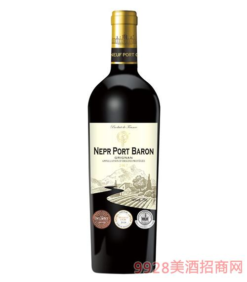 法���Z波特男爵干�t葡萄酒14度750ml