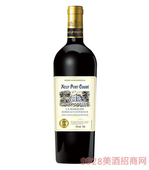 法���Z波特伯爵干�t葡萄酒15度750ml