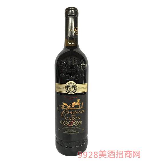 法国女爵干红葡萄酒13度750ml