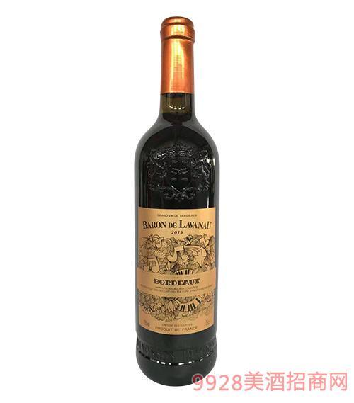 法國男爵干紅葡萄酒13度750ml