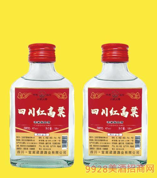 四川红高粱酒(红标)42度100mlx40