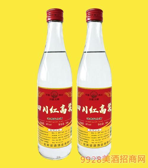 四川红高粱酒(红标)42度500mlx12