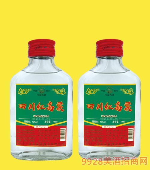 四川红高粱酒42度100mlx40