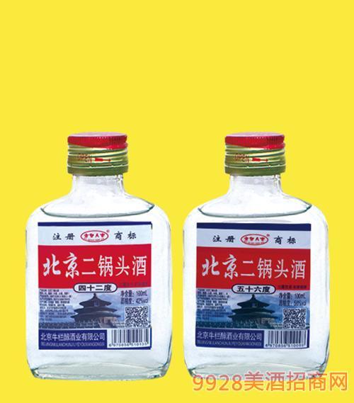 北京二锅头酒小白42度56度100mlx40