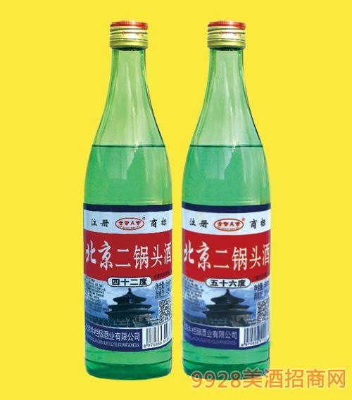 北京二锅头酒大绿42度56度500mlx12