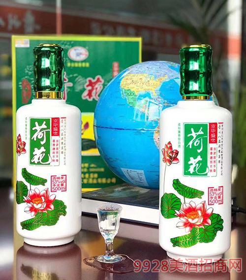 京华盛世荷花酒V80-53度500ml