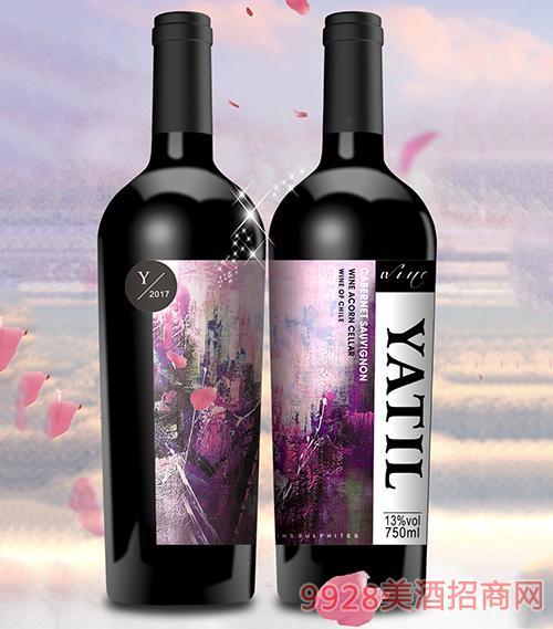雅帝尔赤霞珠干红葡萄酒13度750mlx6