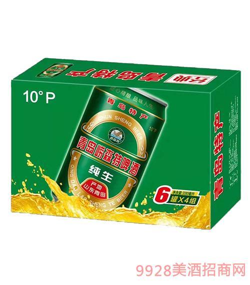 青岛崂森特啤酒300mlx4