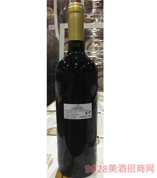 智利佳美娜干红葡萄酒13.5度750ml