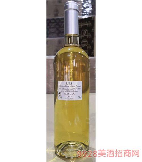 奥克产区IGP干白定制酒12.5度750ml