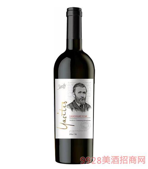 雅斯特传奇之星干红葡萄酒银标14度750mlx6