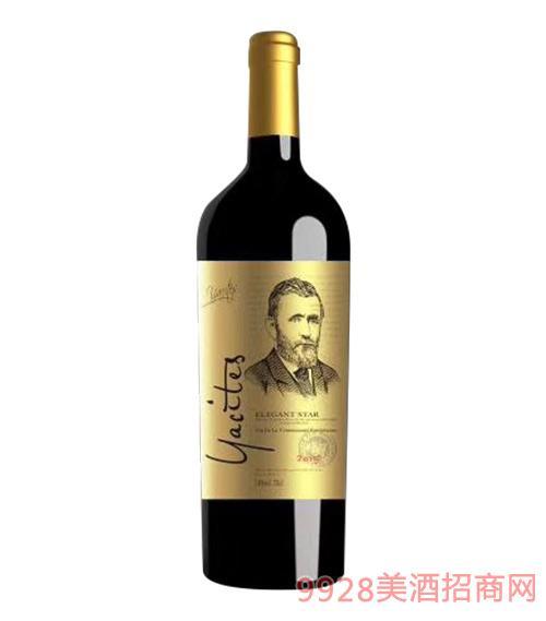 雅斯特传奇之星干红葡萄酒金标14度750mlx6