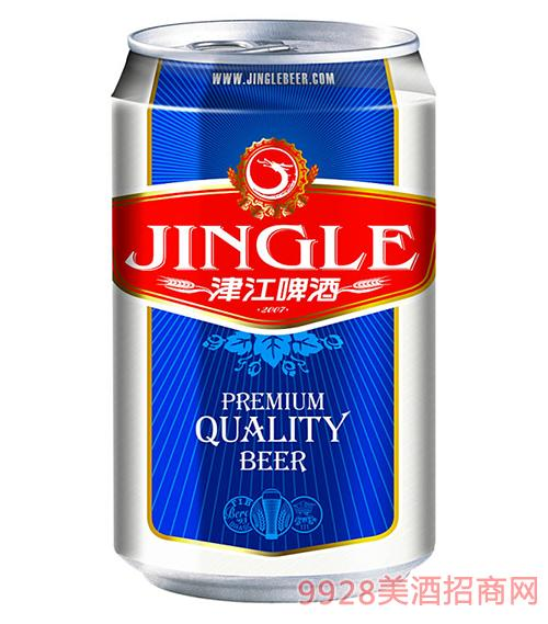 津江啤酒蓝罐装