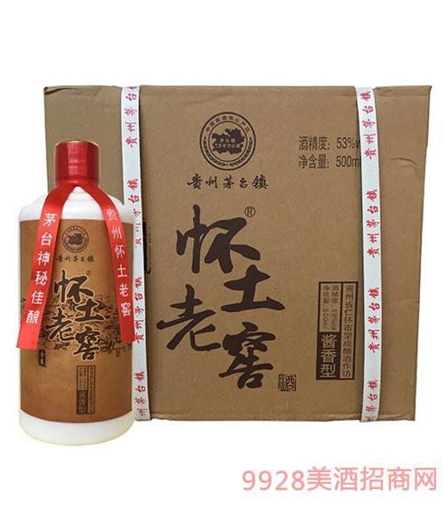 怀土老窖酒53度500mlx6