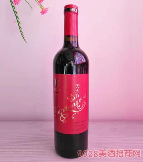 天天有喜干红葡萄酒750ml