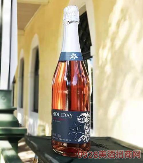 假日风景甜型无醇玫瑰红起泡酒0.5%