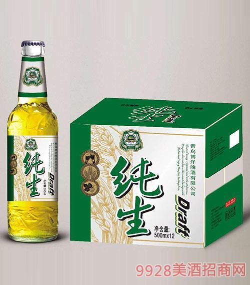 纯生啤酒500mlx12