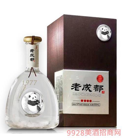 老成都酒熊猫王52度500ml白