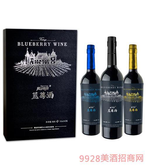藏马密语蓝莓酒750ml