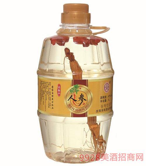 东旺人参酒养生滋补42度1L桶装酒