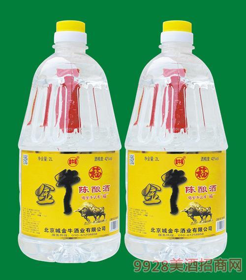 金牛福陈酿酒42度2L