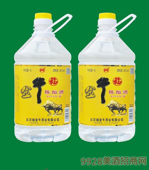 金牛福陈酿酒42度4L
