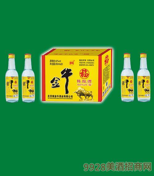 金牛福陈酿酒42度260mlx20