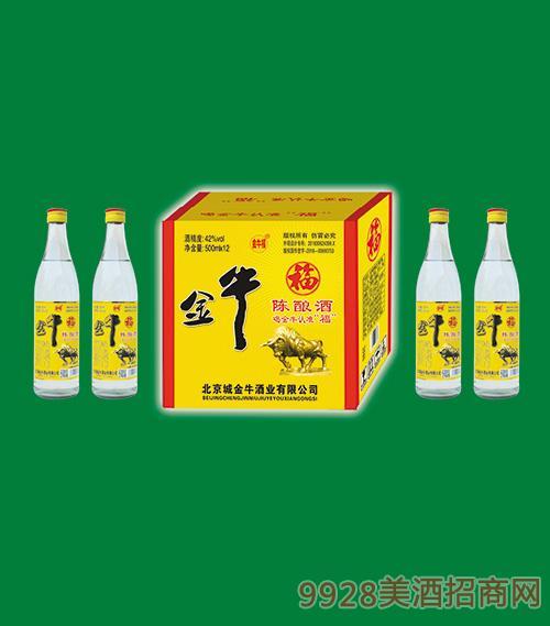 金牛福陈酿酒42度500mlx12