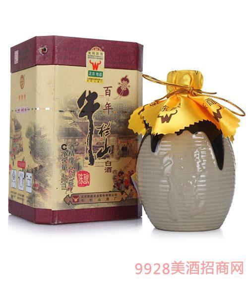 北京二锅头牛栏山三牛酒52度400ML 浓香型 1x6