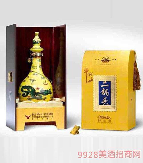北京二锅头牛栏山至尊黄龙酒62度清香型1X4
