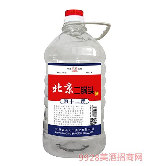 龙迎北京二锅头酒42度4L