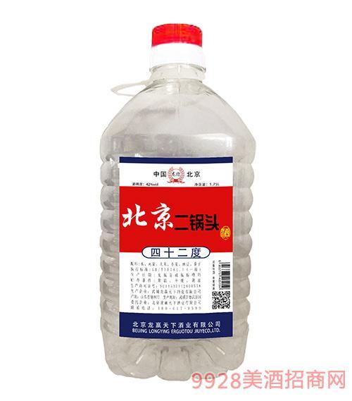 龙迎北京二锅头酒42度1.75L