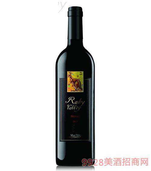 黄尾袋鼠珺玥玫山谷葡萄酒14度750ml