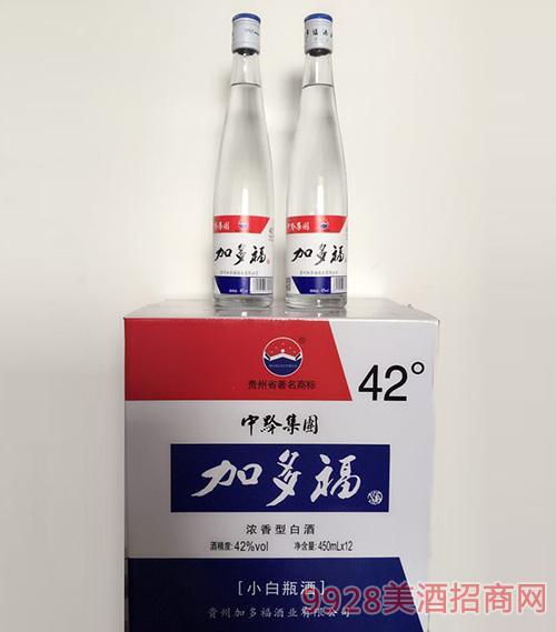 加多福酒小白瓶42度450mlx12浓香型