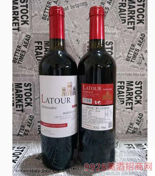 拉图大使骑士干红葡萄酒750ml