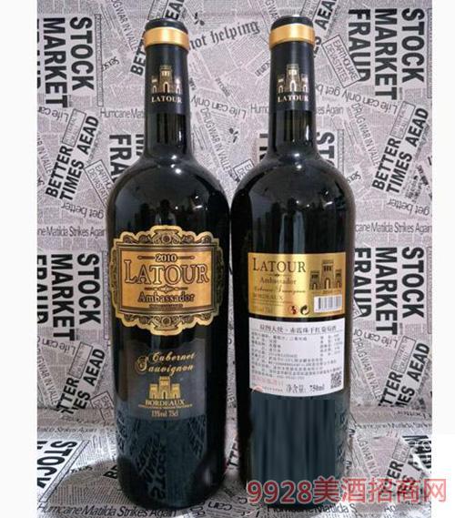 拉图大使赤霞珠干红葡萄酒750ml