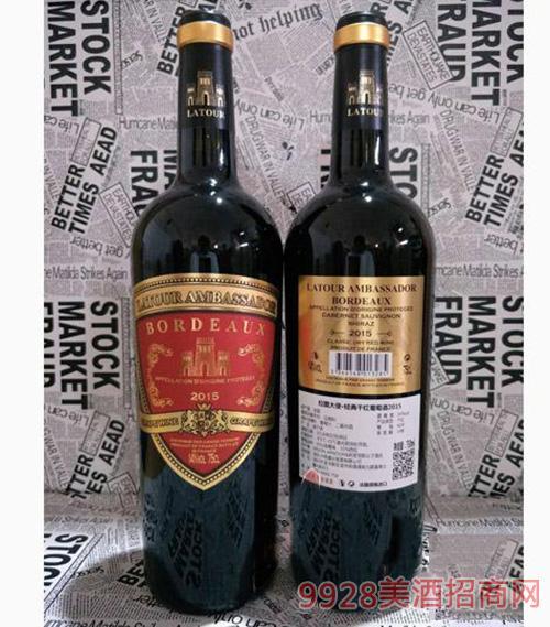 拉图大使2015经典干红葡萄酒750ml