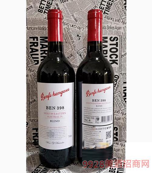 奔富金鼠BEN398干红葡萄酒750ml